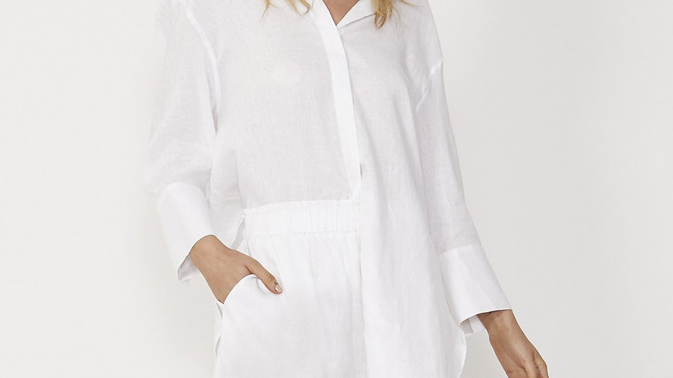 Sass Eden White Linen Shirt