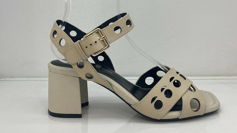 Martini Marco Saran Avorio (Ivory) Leather Block Heel