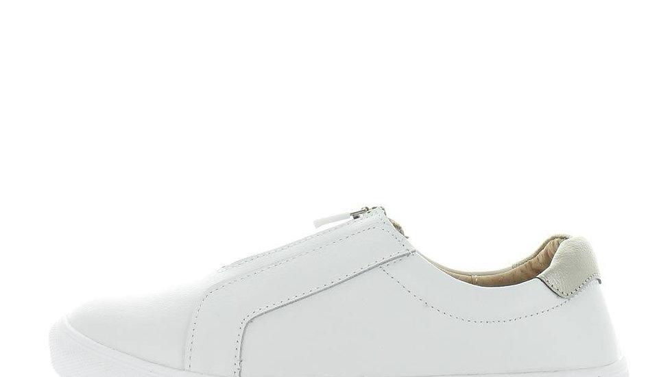 Just Bee Celsa Leather Sneakers Zip Front