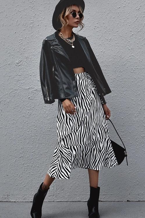 Falda estampado cebra