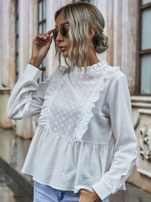 Blusa de volantes white