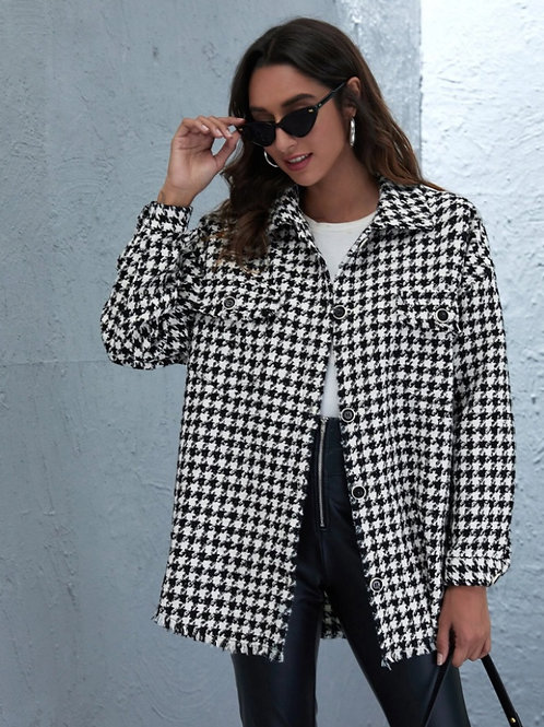 Blazer tweed black and white