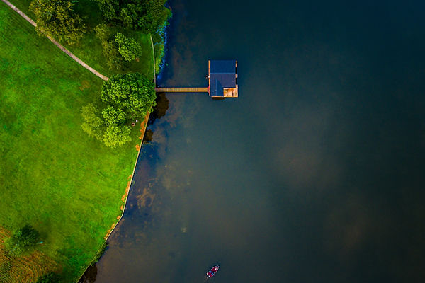 Drone Lake house