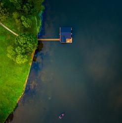 Aerial Lake House