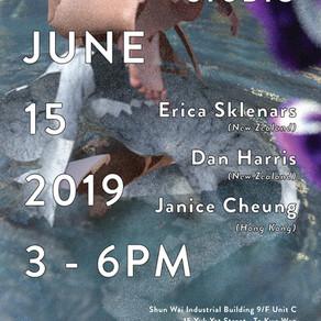 In-situ Open Studio: Erica Sklenars, Dan Harris, Janice Cheung (Saturday, June 15, 2019)