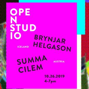In-situ Art Open Studio: Brynjar Helgason & Summa Cilem (Saturday, Oct 26, 2019. 4-7pm)