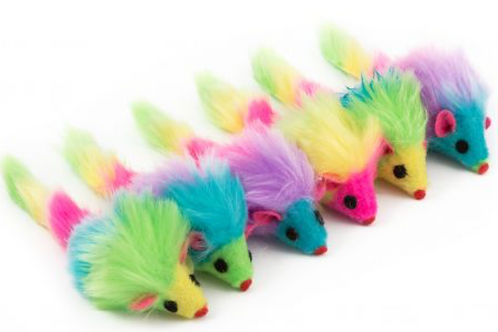 Rainbow Mice Cat Toy by Ancol