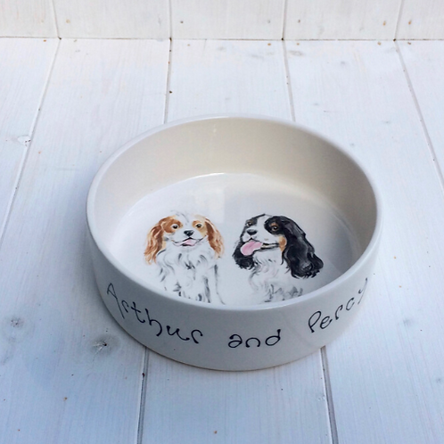 Personalised Pet Bowl with Portrait by Purple Glaze Pottery