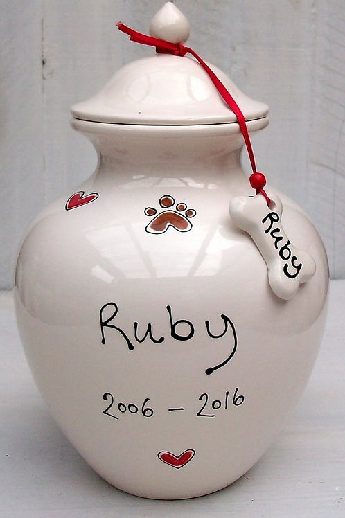Large Memorial Urn for Pets by Purple Glaze Pottery