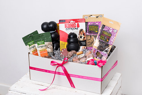 Perfect Pet Treat Box for Dogs - Luxury with Tough Toys