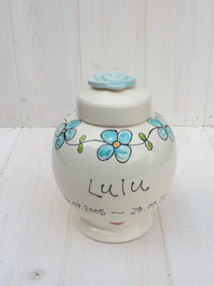 Personalised Memorial Urns by Purple Glaze Pottery