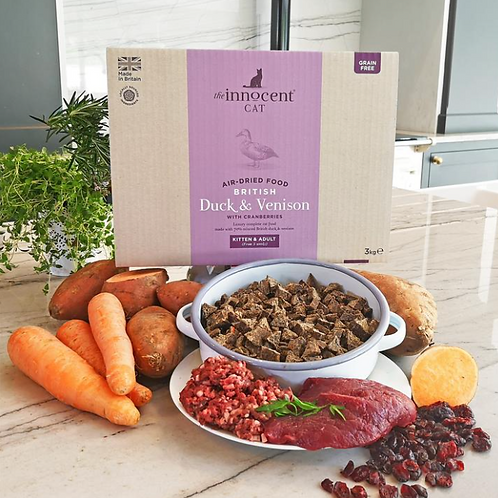 Duck & Venison - Air-Dried Complete Cat Food by The Innocent Cat