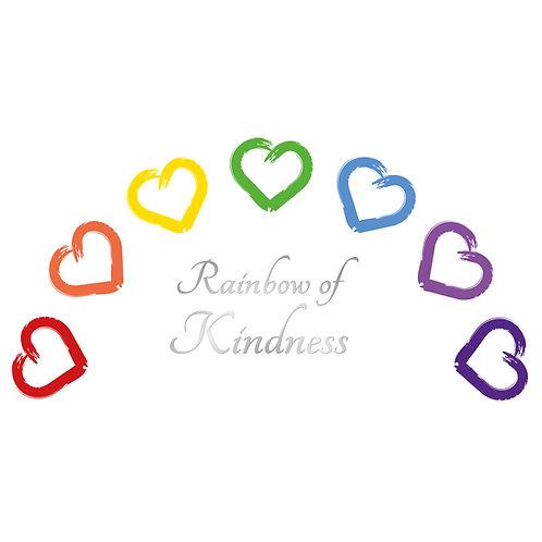 Rainbow of Hearts Keyring
