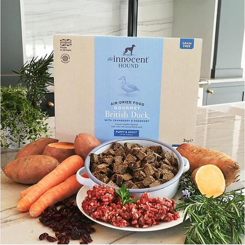 Gourmet British Duck - Air-Dried Complete Dog Food by The Innocent Hound