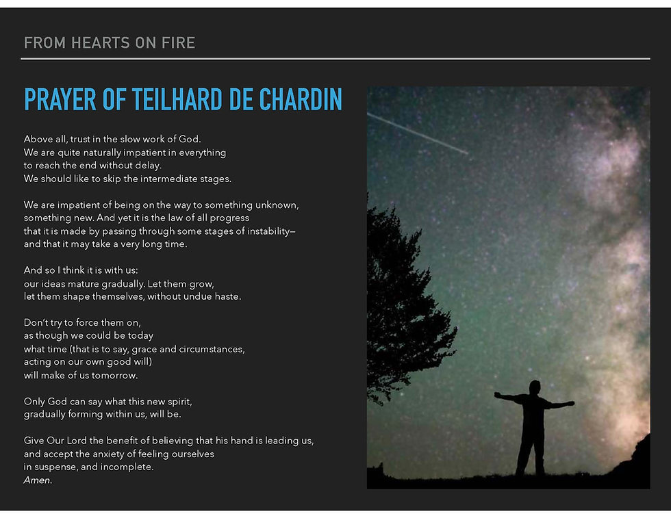 Prayer_Teilhard de Chardin_Trust in the