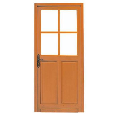 Porte d 39 entr e briare 4 carreaux bois exotique e menuiserie - Porte d entree bois exotique ...