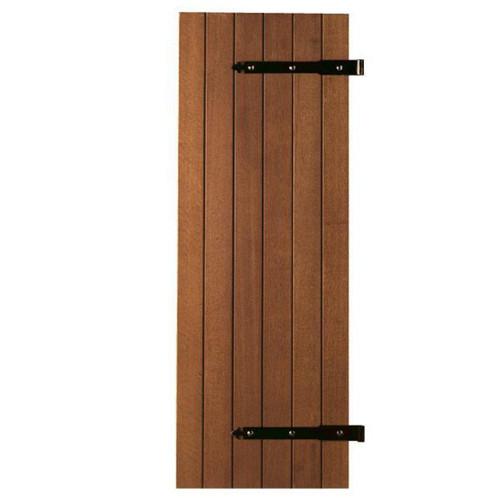 volet bois exotique barres et charpe pentures pos es 2. Black Bedroom Furniture Sets. Home Design Ideas