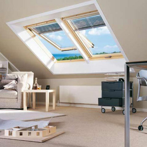 fen tre toit velux tout confort projection gpl e. Black Bedroom Furniture Sets. Home Design Ideas