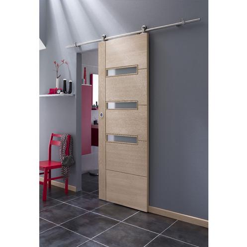 Syst me coulissant manhattan en applique pour porte en bois - Systeme coulissant pour pose applique porte ...