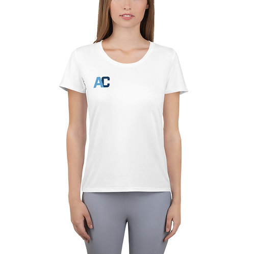 Adam Clark Fitness All-Over Print Women's Athletic T-shirt - Strong Not Skinny
