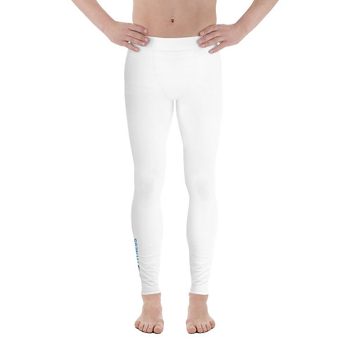 Adam Clark Fitness Men's Leggings - White