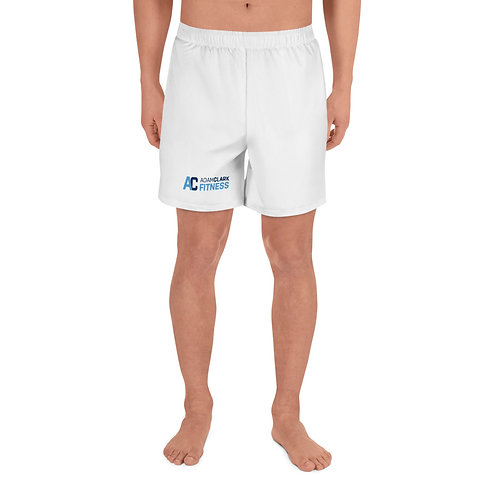 Men's Athletic Long Shorts - White