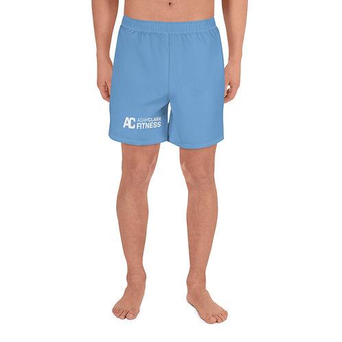 Adam Clark Fitness Men's Athletic Long Shorts - Light Blue