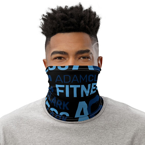 Adam Clark Fitness Neck Gaiter - Black Color - White Stitch