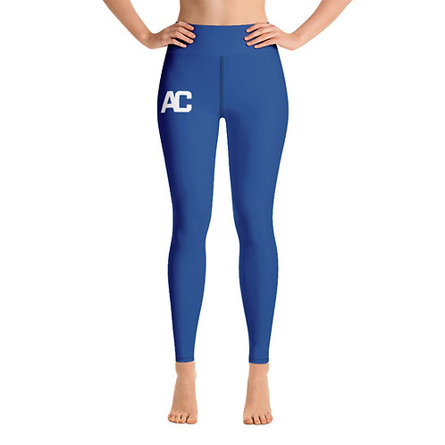 AC Yoga Leggings - Blue - Black Stitch