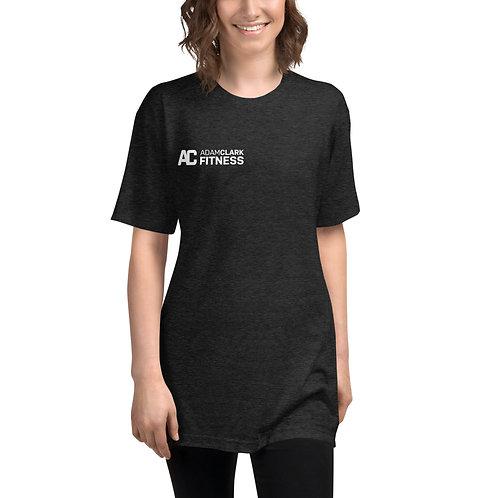 Unisex Tri-Blend Track Shirt - Adam Clark Fitness Logo on Front