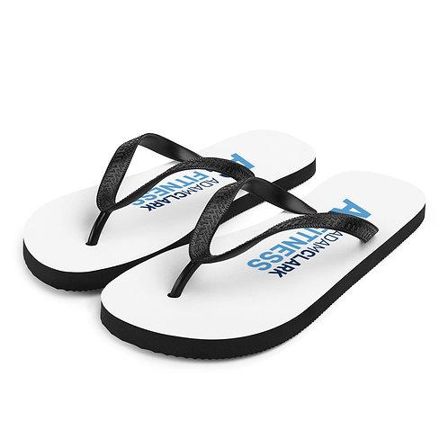 Adam Clark Fitness Flip-Flops - White