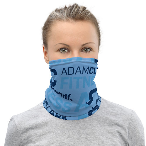 Adam Clark Fitness Neck Gaiter - Light Blue Color - White Stitch