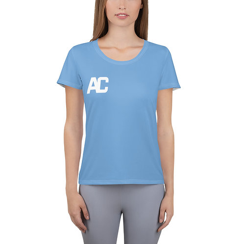 Adam Clark Fitness Women's Athletic T-shirt - Sweat, Smile, Repeat - Light Blue