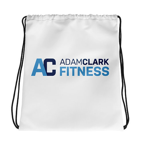 Adam Clark Fitness Drawstring Bag - White