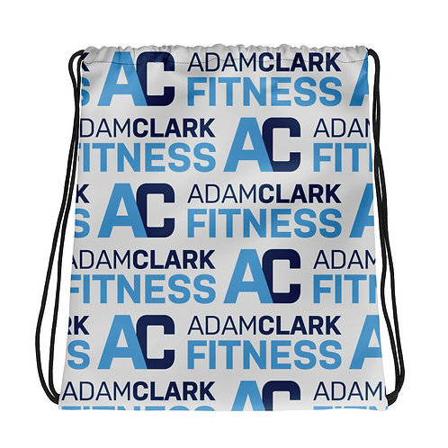 Adam Clark Fitness Drawstring Bag - Light Grey