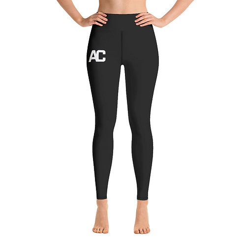 AC Yoga Leggings - Black - Black Stitch