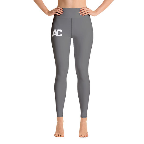 AC Yoga Leggings - Grey - Black Stitch