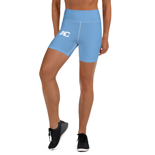 Yoga Shorts - AC - Light Blue