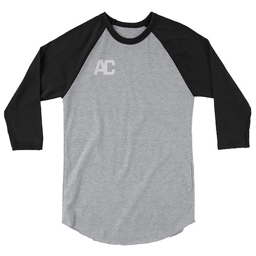 Adam Clark Fitness 3/4 Sleeve Raglan Shirt - White Logo