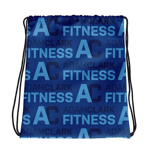 Adam Clark Fitness Drawstring Bag - Blue