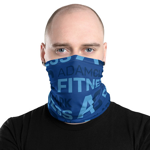 Adam Clark Fitness Neck Gaiter - Blue Color - White Stitch