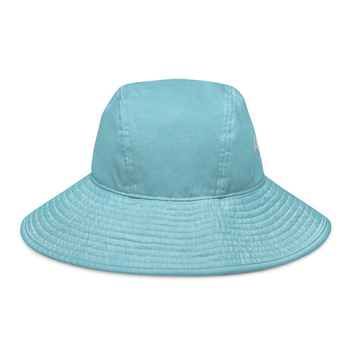Adam Clark Fitness Wide Brim Bucket Hat - White Logo
