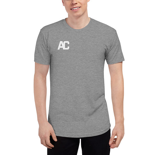 Unisex Tri-Blend Track Shirt - AC Logo on Front