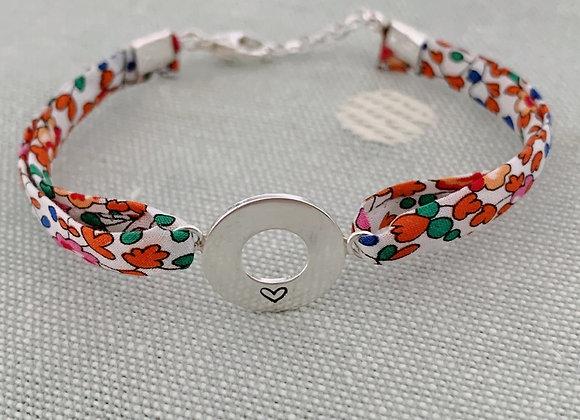 Heart Eloise A Liberty Fabric Bracelet