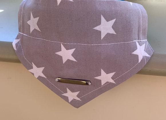 Personalisable Dog/Cat Neckerchief - Grey Stars
