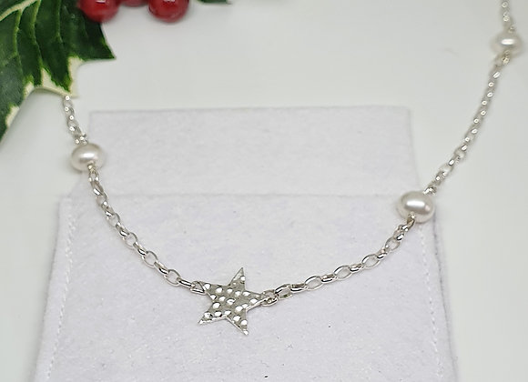 Starry Christmas Pearl Necklace - giftbox