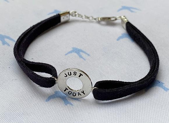 JUST TODAY Navy Suede Bracelet
