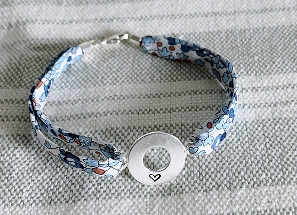 Heart Eloise D Liberty Fabric Bracelet