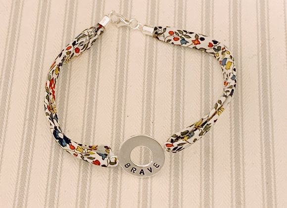 BRAVE Doughnut Bracelet with Katie and Millie Liberty Fabric