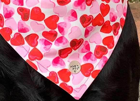 Love Heart Dog Neckerchief - Large